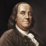 Benjamin Franklin. As a man of letters, he remained in close contact with the members of the Lunar Society