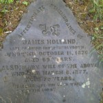 Grave stone of James Holland, the innkeeper of the Druid at Pontblyddyn.