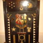 The Masonic chair belonging to Mersey Lodge, Birkenhead, in detail