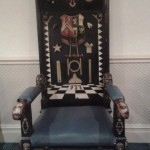 The 'rustic' looking Masonic chair belonging to Mersey Lodge, Birkenhead