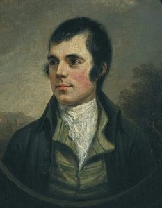 Robert Burns by Alexander Nasmyth. Scottish National Portrait Gallery